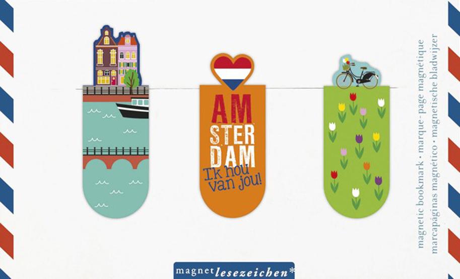 Magnetlesezeichen Amsterdam